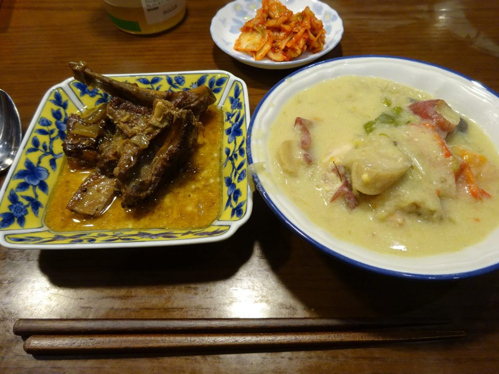 この日の夕食でした