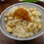 玄米ご飯の朝食