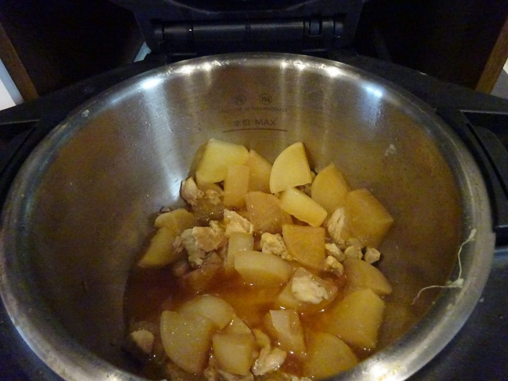 鶏と大根の煮物完成