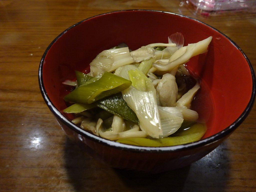 ネギとマイタケのスープ