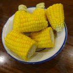 ヘルシオで試作「蒸しトウモロコシ」