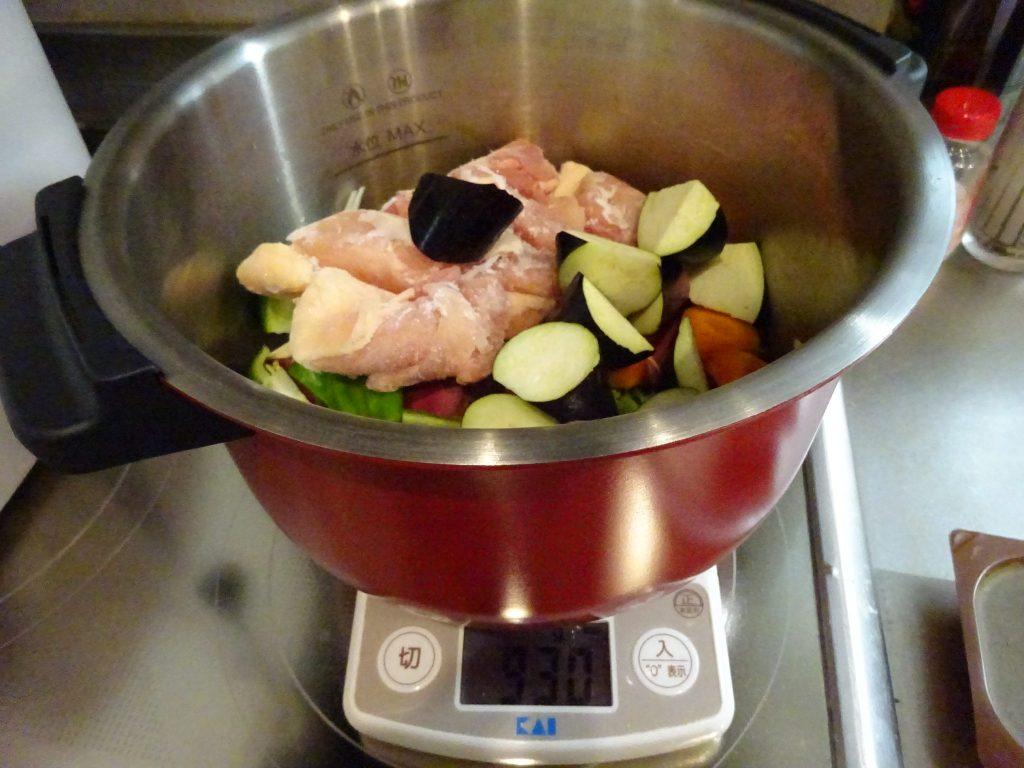野菜を切ったらホットクックの鍋に
