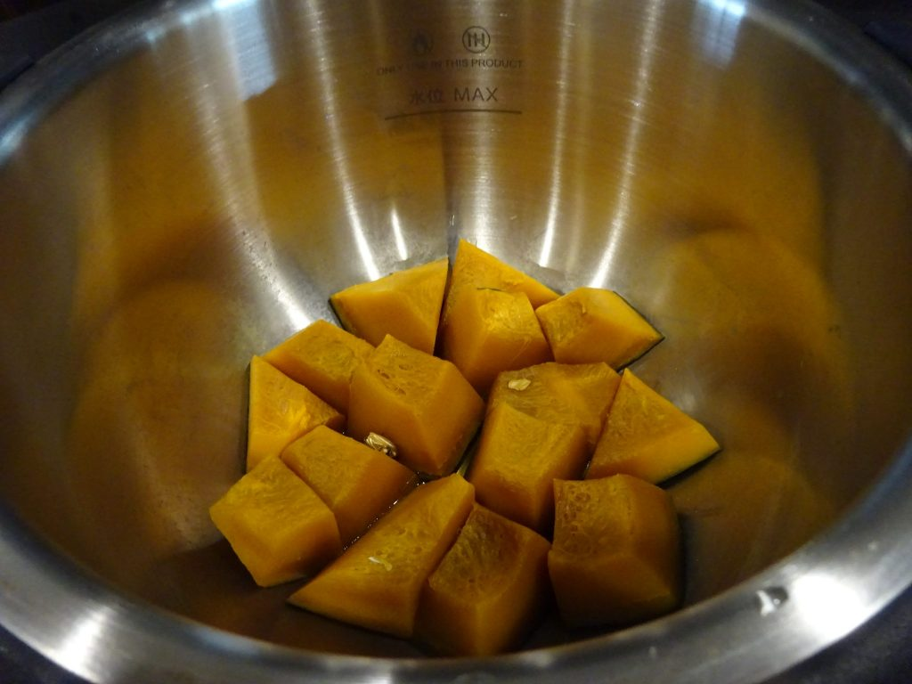 カボチャの煮物完成