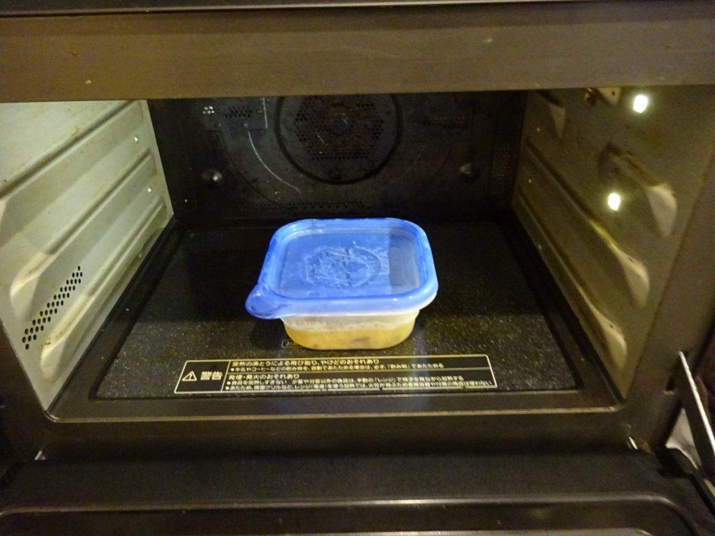 冷凍保存したシチューは電子レンジで解凍加熱
