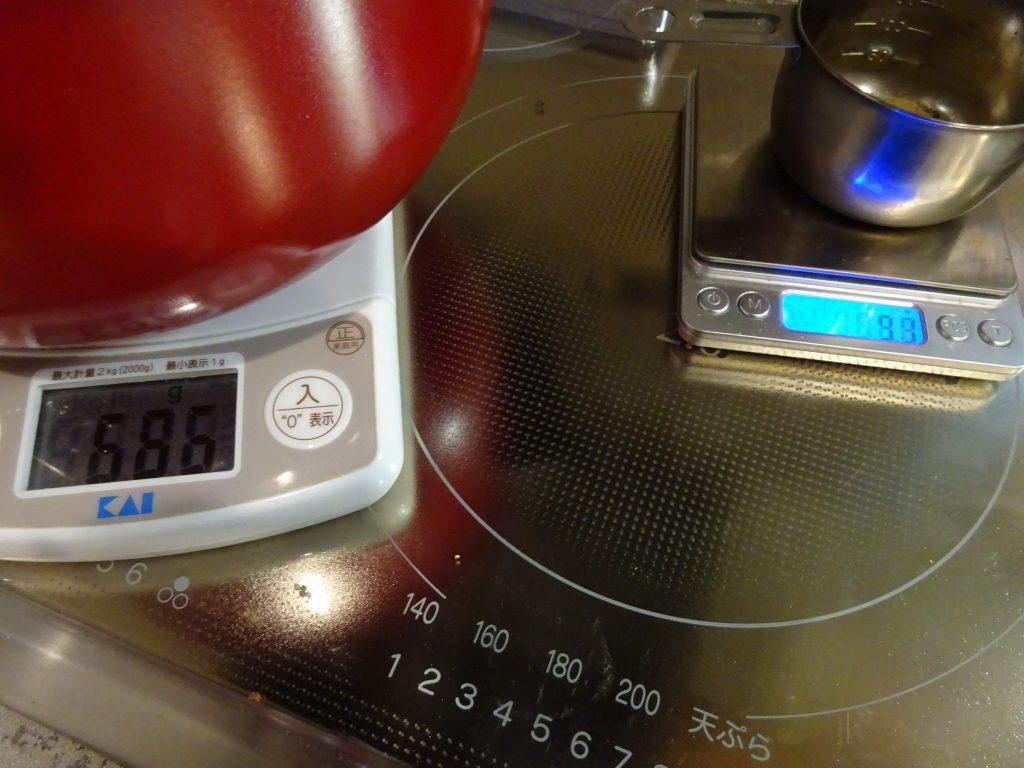 出汁を計量