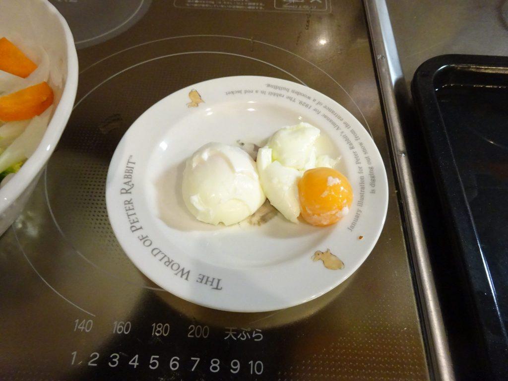 卵も加熱不足