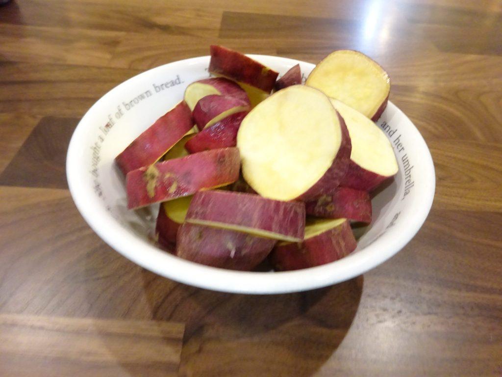 低温蒸しサツマイモ、なんかバクバク食べてしまいます