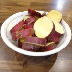 カットサツマイモの低温蒸し
