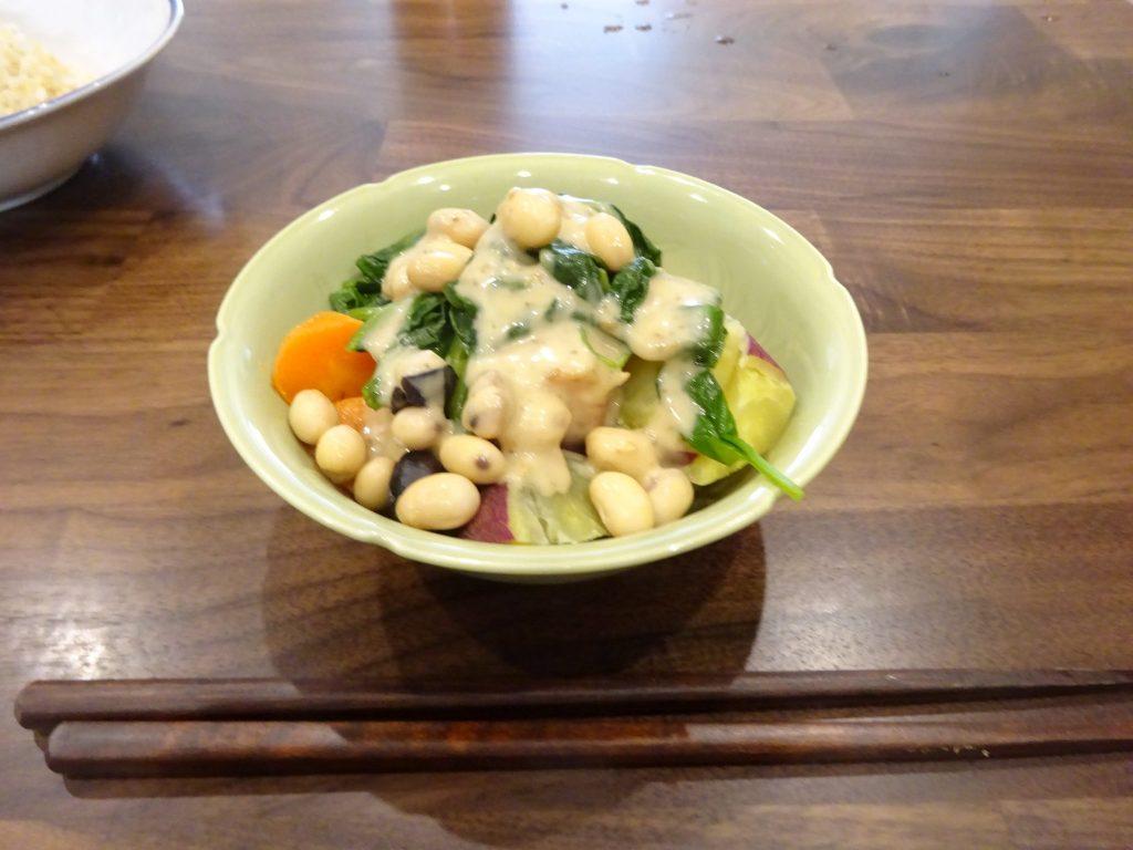 蒸し野菜のサラダ