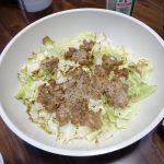ヘルシオで試作「ひき肉とキャベツの重ね焼き」