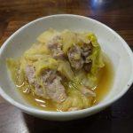 ホットクックで試作「豚と白菜の煮物」