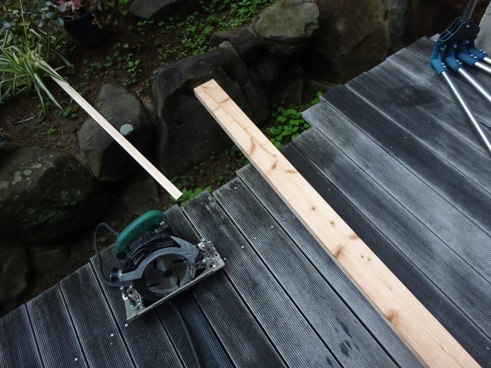 ルンバ対策、ソファーの高さを上げるための木材加工