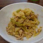 ホットクックで試作「鶏ミンチとキャベツの煮物」