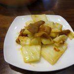 ヘルシオで試作「こてっちゃんと白菜の炒め物」