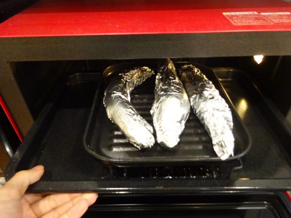 鳴門金時で140度90分焼き芋
