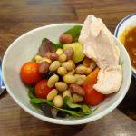 蒸し野菜を使ったサラダは毎日食べるお気に入りメニューです