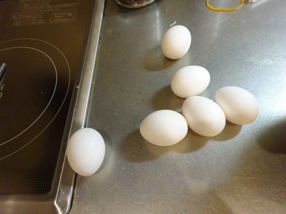 ホットクックで茹で卵
