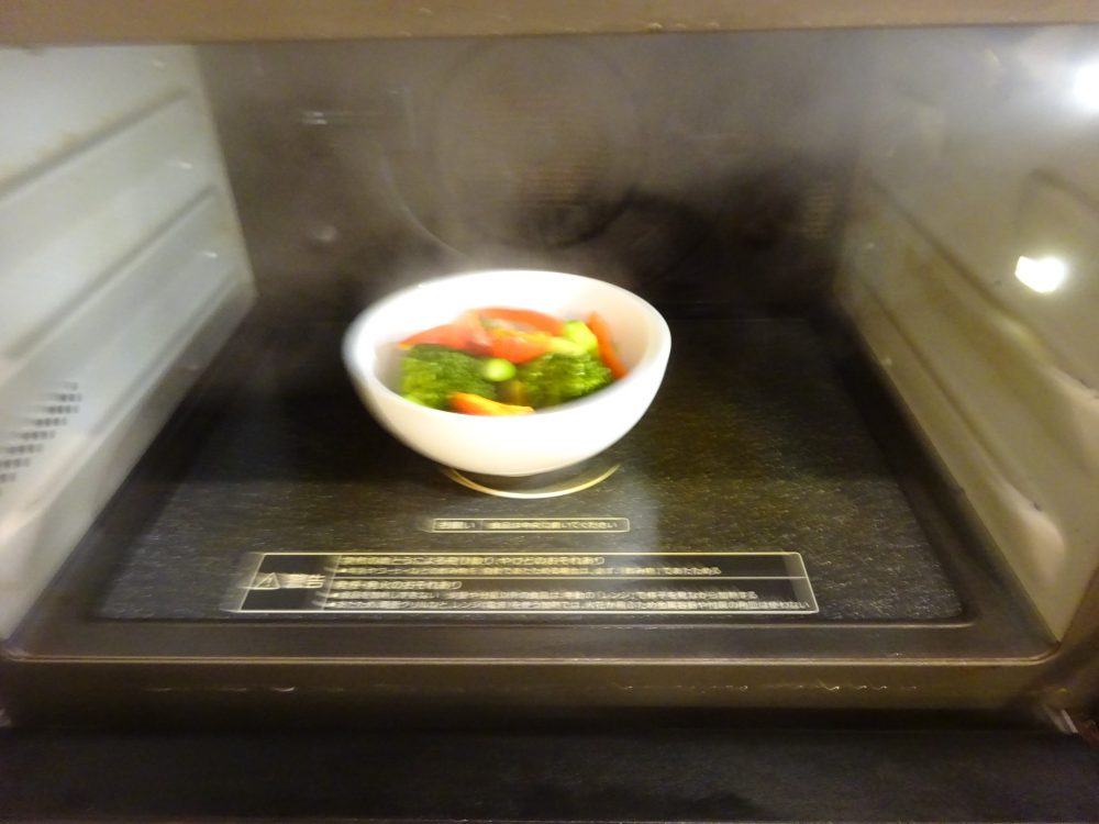 電子レンジで野菜温め