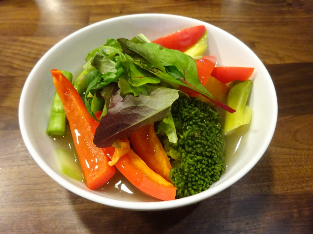 完成、彩野菜のあんかけ