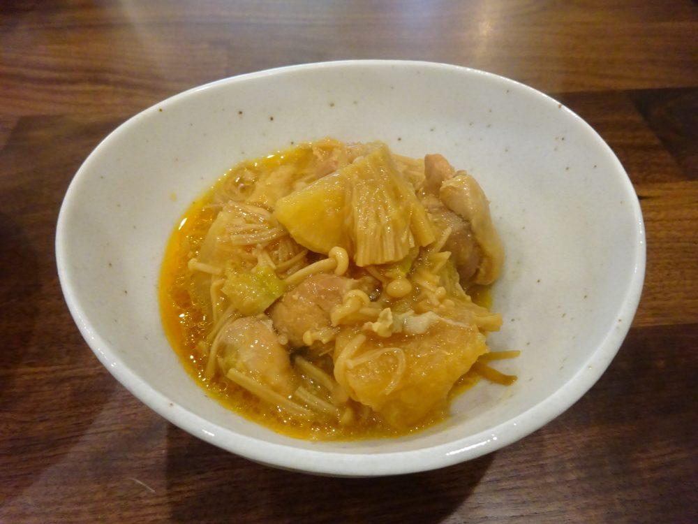 鶏肉と大根の味噌煮込み完成
