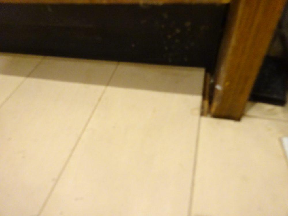 床を上げているのでビルトイン食洗が面倒