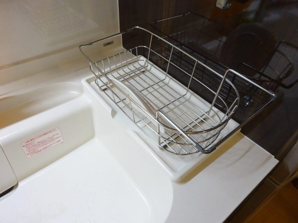 洗いかごをシンク横に移動