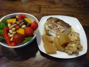 この日の夕食