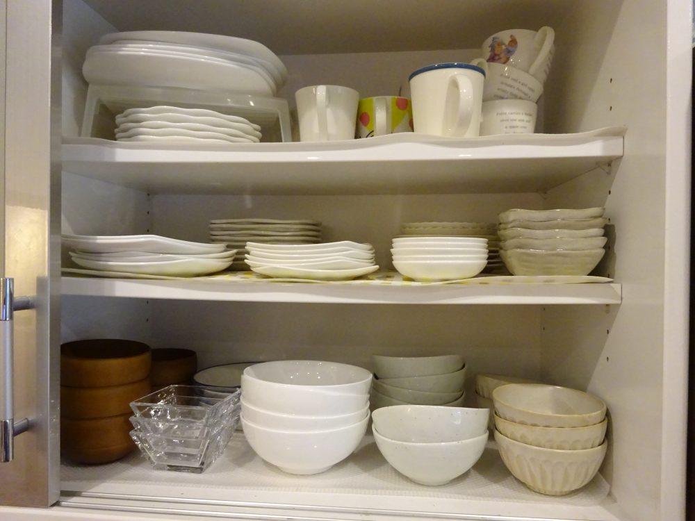 食器の集約で収納手間の時短化
