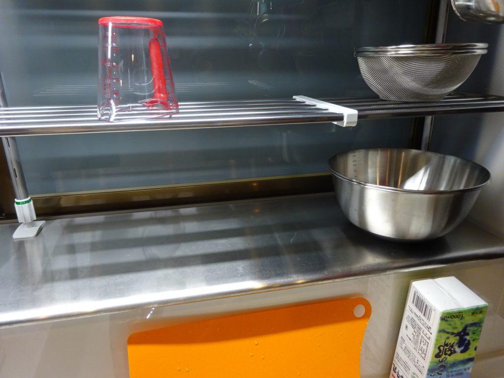 キッチン前の出窓は最も使いやすい場所