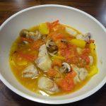 ヘルシオで鶏もも肉とトマトのスープ