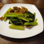 ホットクックで小松菜とこてっちゃんの炒め物を作ってみた