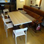 リビングに薄型収納できるイベント用ダイニングテーブルをDIYで作ってみた その2