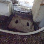 排水枡の蓋に網戸の網を敷いて蚊の発生対策をしてみました