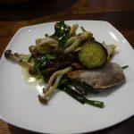ヘルシオで豚バラ焼肉入りの野菜炒め
