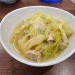 ホットクックで鶏もも肉とキャベツの煮物