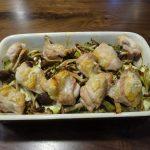グラタン皿を使ってヘルシオの任せて焼きで野菜と鶏肉の塩焼きを作ってみた