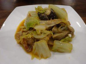 豚肉と白菜のピリ辛みそ炒め