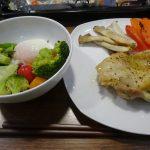 ヘルシオで鶏の塩焼きと同時に野菜を焼いてみた