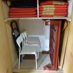 収納庫に棚を付けて収納力アップの改造