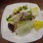 IHクッキングヒーターで冷凍豚タン薄切りと白菜の炒め物
