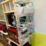ヘルシオ、ビストロ、電子レンジ2台置台側面の食材収納