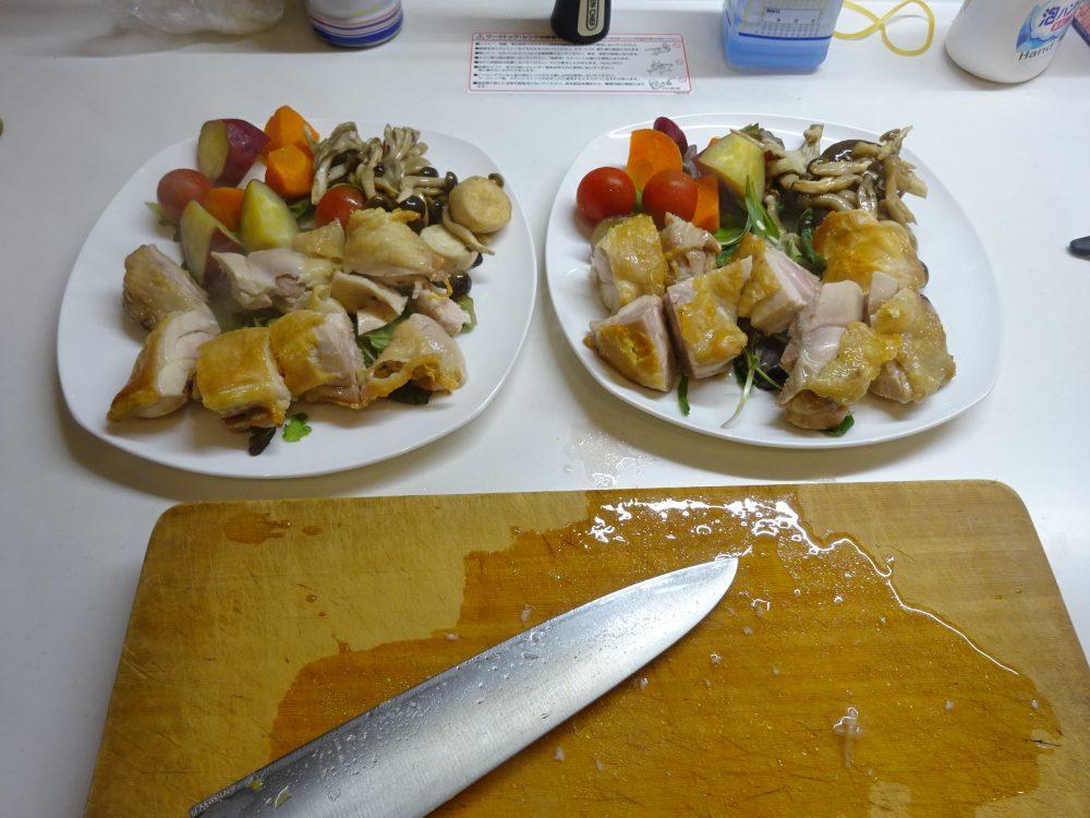 ヘルシオで鶏もも肉を任せて焼き完成