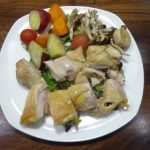 ヘルシオで鶏もも肉を任せて焼きで調理してみたら皮がパリパリで美味しかった