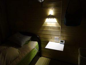 Amazonで購入した枕元灯がカッコよい