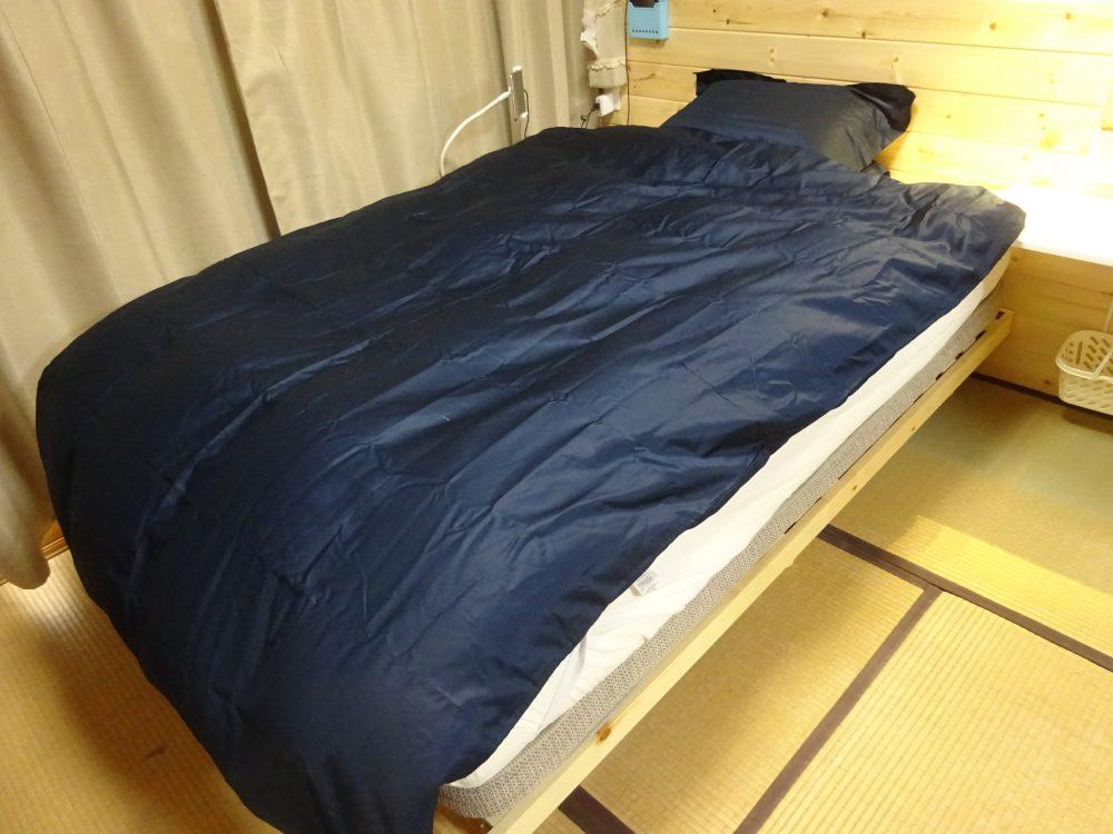 熟睡できる寝室作り使ったすのこベットはルンバブル