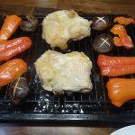 鶏もも肉とシイタケとパプリカをヘルシオの任せて網焼きに