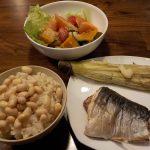ヘルシオで焼き魚と焼きナスの同時調理