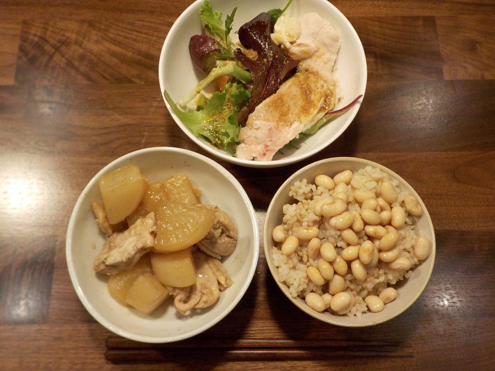 ホットクックとヘルシオで後混ぜ鶏と大根の煮物