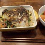 鯛のアラ焼き味噌味