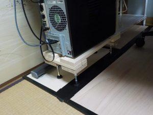 ルンバブルなデスクトップパソコン置き場